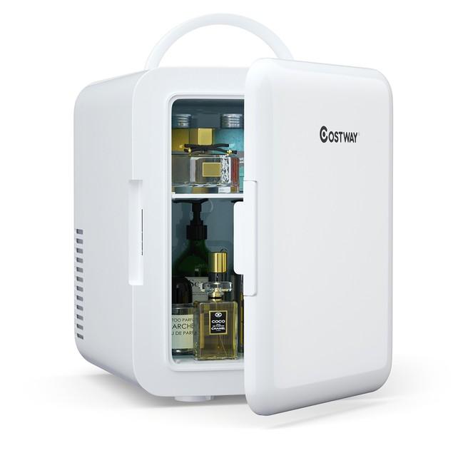 Costway 4 Liter Mini Fridge Portable Cooler Warmer Makeup Skincare Refriger
