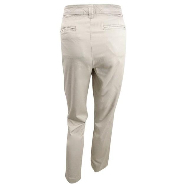 Maison Jules Women's Slim Ankle Pants Beige Size 12