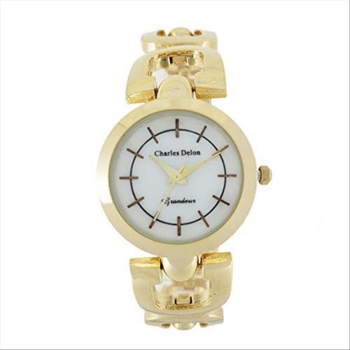 Charles Delon Women's Watches 5616 LGMD Gold/Gold Stainless Steel Quartz Round