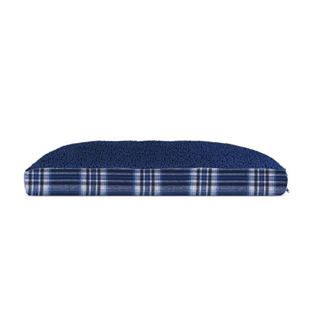 FurHaven Faux Sheepskin & Plaid Deluxe Pillow Pet Bed
