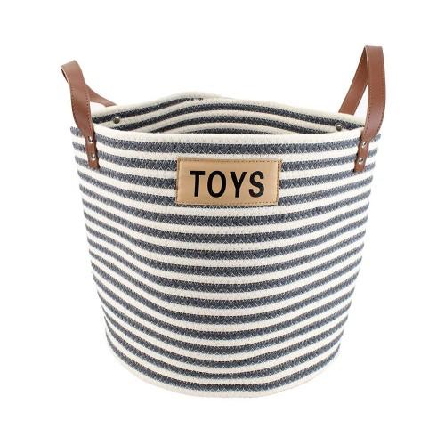 Midlee Cotton Rope Pet Toy Storage Basket