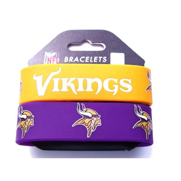 Minnesota Vikings Rubber Wrist Band (Set of 2) NFL
