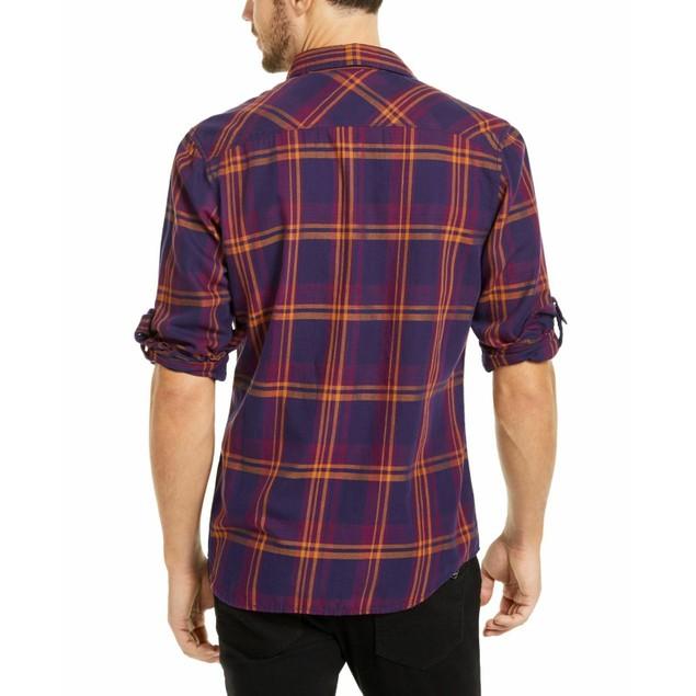 INC International Concepts Men's Marc Plaid Shirt Red Size Extra Large
