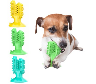 Toothbrush Chew Toy Dog with Cactus Shaped Suction Cup for Dental Oral Care Was: $59.99 Now: $11.99.