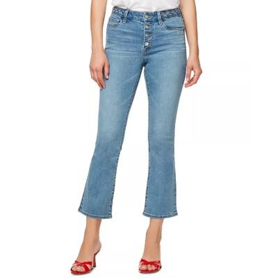 Sanctuary Women's Braided Waist Cropped Jeans Blue Size 24