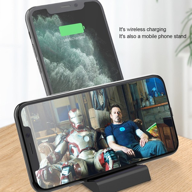 2-In-1 Wireless Charging Stand Phone Holder 15W Fast Charger for Cell Phone