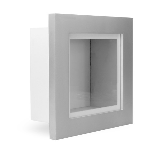 "MandW 3D Box Frame Silver 8"" x 8"""