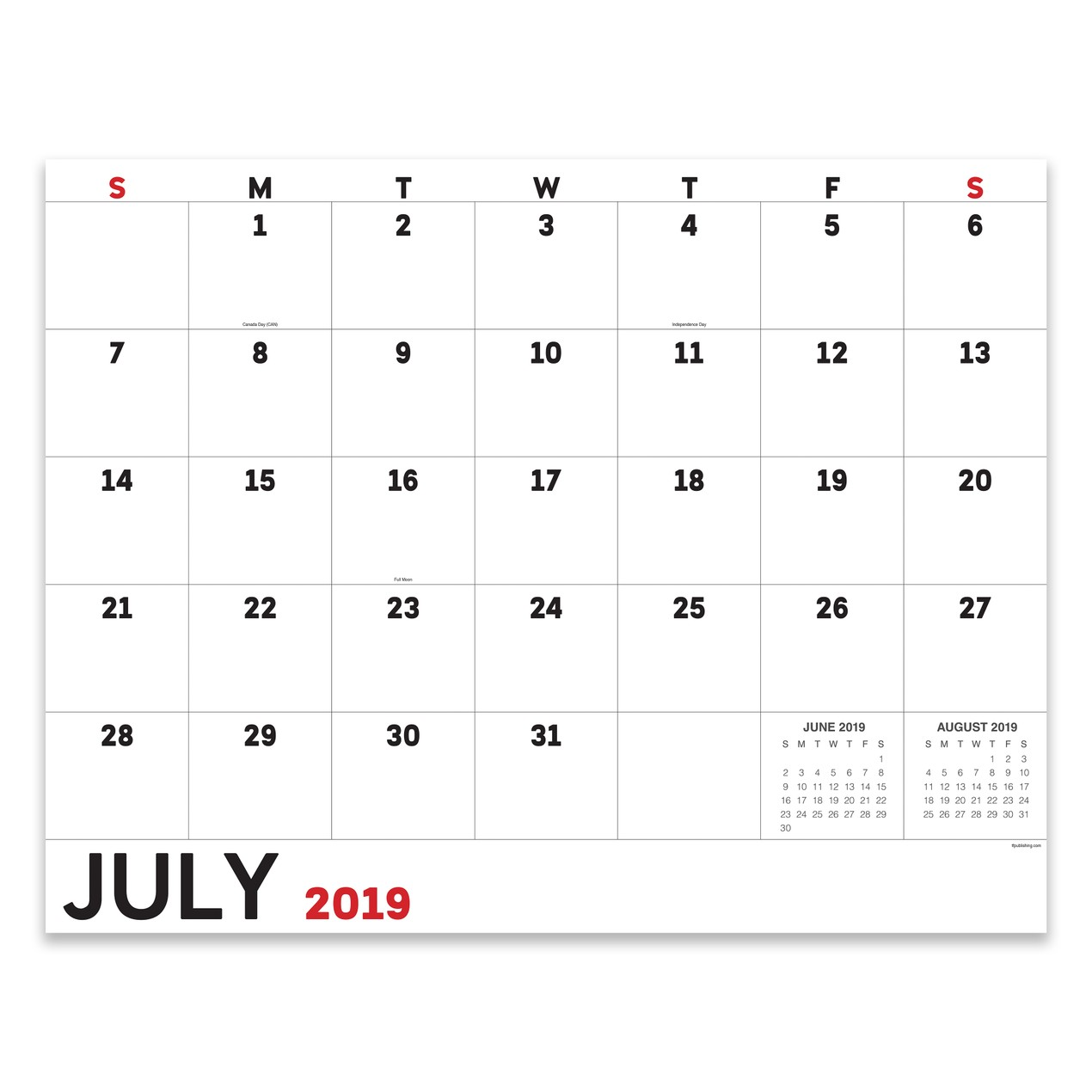Calendar June 2020.July 2019 June 2020 Utility Large Desk Pad Monthly Calendar Tanga