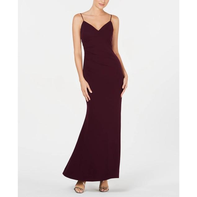 Calvin Klein Women's Side Ruched Gown Purple Size 10