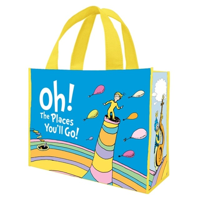 Dr. Seuss Oh The Places You'll Go Large Tote Bag