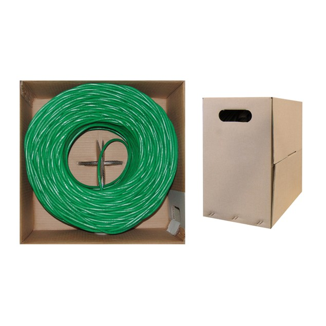 Bulk Cat5e Green Ethernet Cable, Stranded, UTP