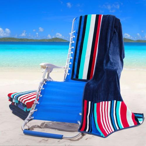 100% Cotton Nautical Stripes (set of 2) Beach Towel