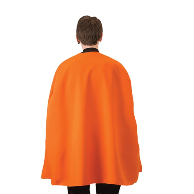 "Orange Superhero Cape 36"" Adult Super Hero Costume Halloween Caped"