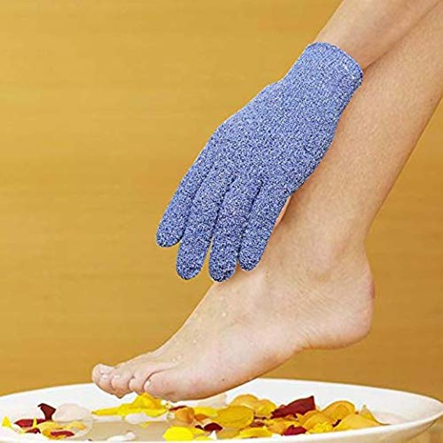 EvridWear Exfoliating Dual Texture Bath Gloves (3 Pairs Heavy Gloves)
