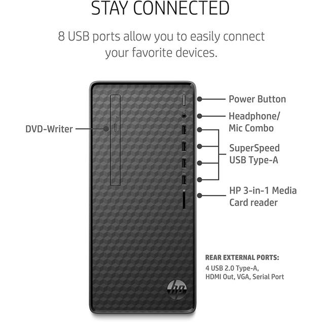 HP M01-F1014 8GB 256GB Gold G6400 Win10H,Black (Certified Refurbished)