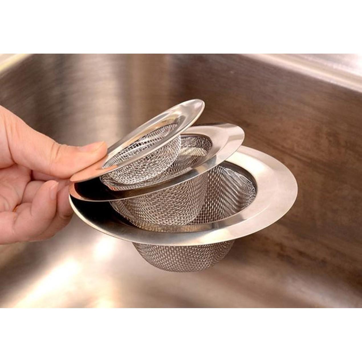 Home Kitchen Sink Drain Strainer Stainless Steel Mesh Basket