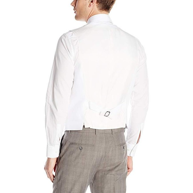 Perry Ellis Men's Linen Suit Vest, Bright White,  Sz XX-Large