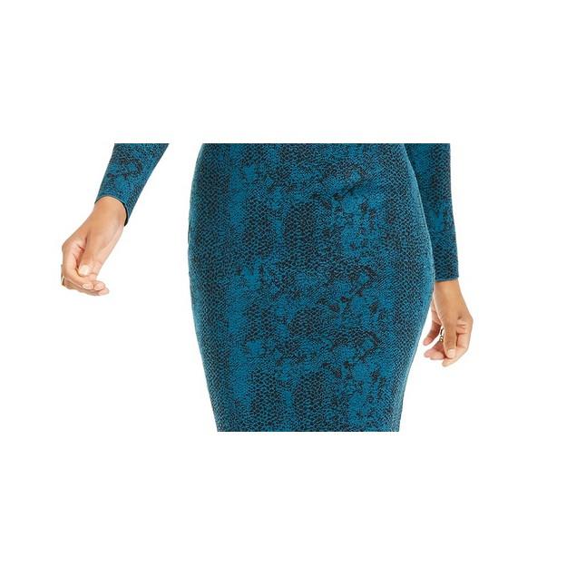 Thalia Sodi Women's Jacquard Sweater Skirt  Blue Size Small