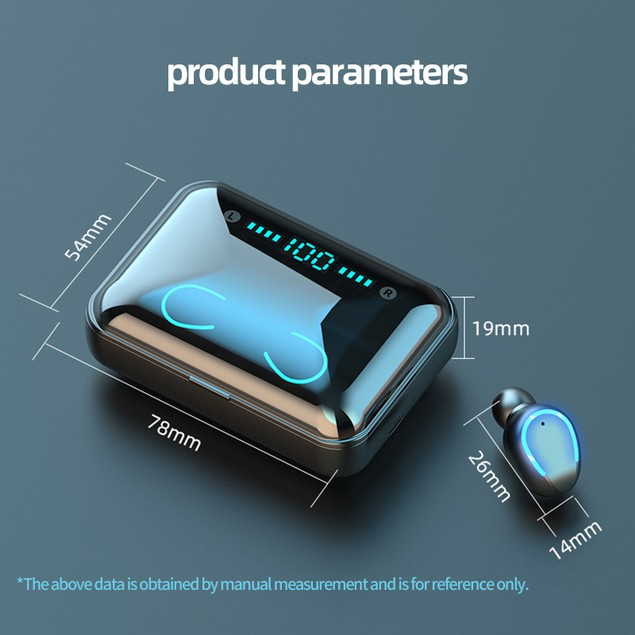 Touch Binaural Digital Display With Power Bank Bluetooth Headset