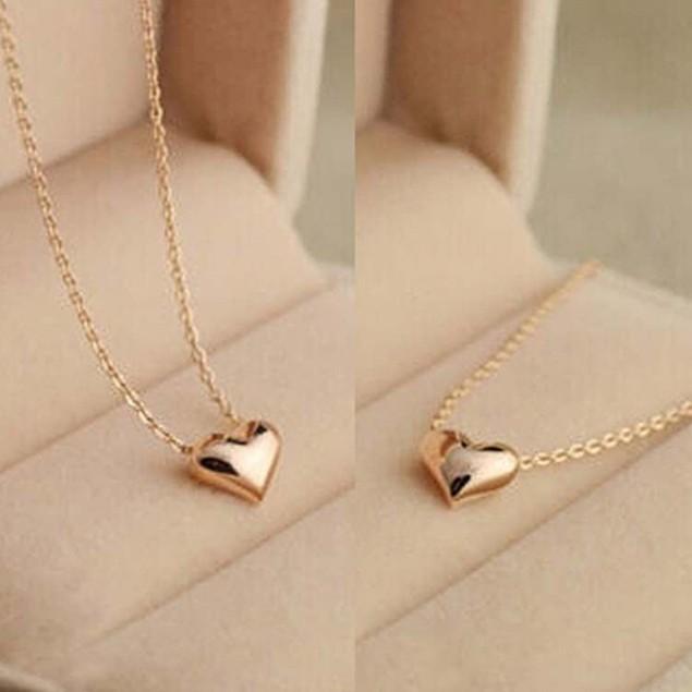 Elegant Tiny Cute Love Heart Short Necklace