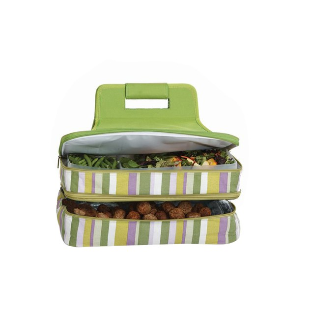 Picnic Plus Entertainer Hot & Cold Food Carrier Lime Rickey