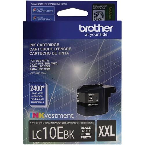 Brothers Brother Printer LC10EBK Super High Yield Black Ink Cartridge