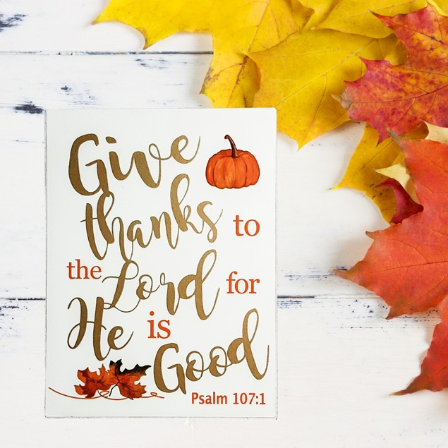 Give Thanks to the Lord Box Sign