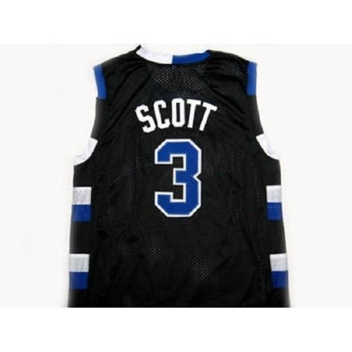 Lucas Scott #3 Black Basketball Jersey