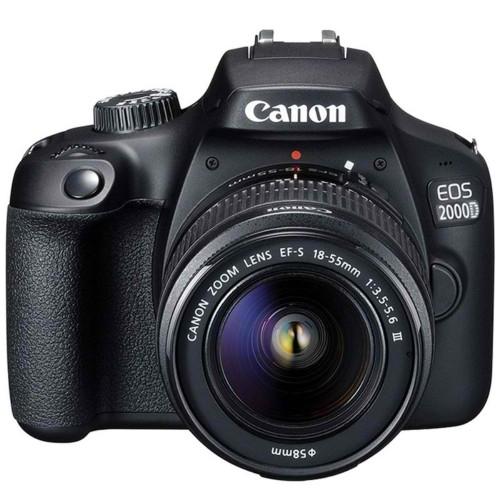 Canon EOS 2000D / Rebel T7 24.1MP CMOS 1080p DSLR Camera + Canon EF-S 18-55mm f/1:3.5-5.6 Lens