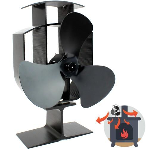 MandW Heat Powered 3 Blade Stove Fan