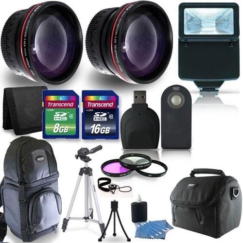 New Kit, Lots of Accessories +24GB Cards for Nikon 52mm SLR digital Camera Lens