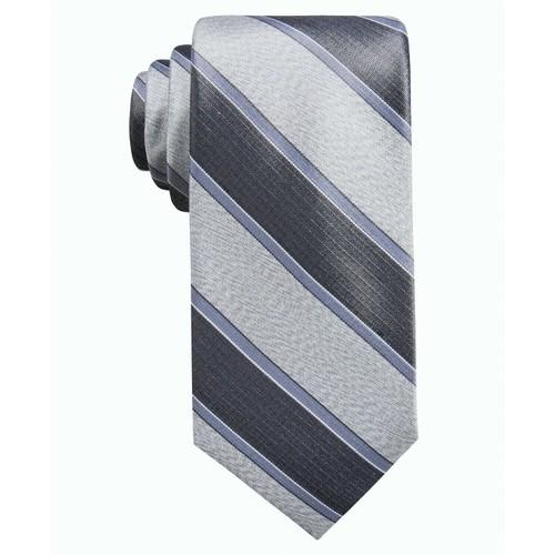 Ryan Seacrest Distinction Men's Rue Stripe Slim TieCharcoal Size Regular