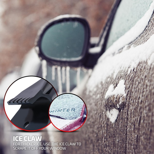 2-Pack Ice Scraper & Crusher Tool For Ice & Snow Removal - Durable & Heavy