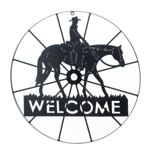 Koehler Home decor Cowboy Wheel Welcome Sign
