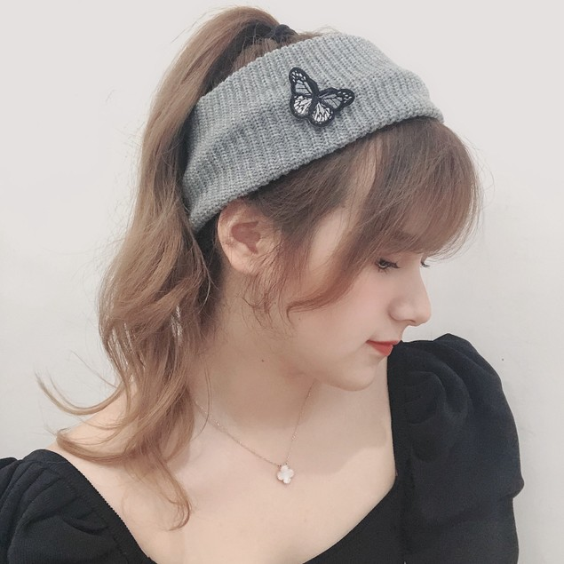 Women's Wild Knitted Empty Top Butterfly Headband Simple