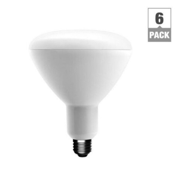 EcoSmart 75-Watt Equivalent BR40 Dimmable LED Light Bulb Soft White, 6-Pack