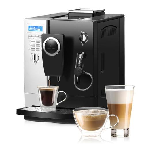 Costway Super-Automatic Espresso Machine Cappuccino Latte Maker 19 Bar w/ M