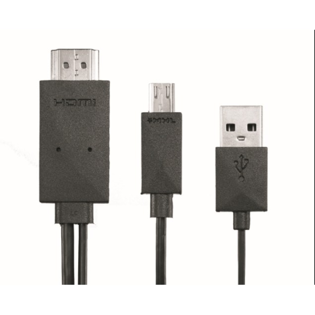Micro USB 11 pin Male To HDMI MHL Male 6ft Black cable
