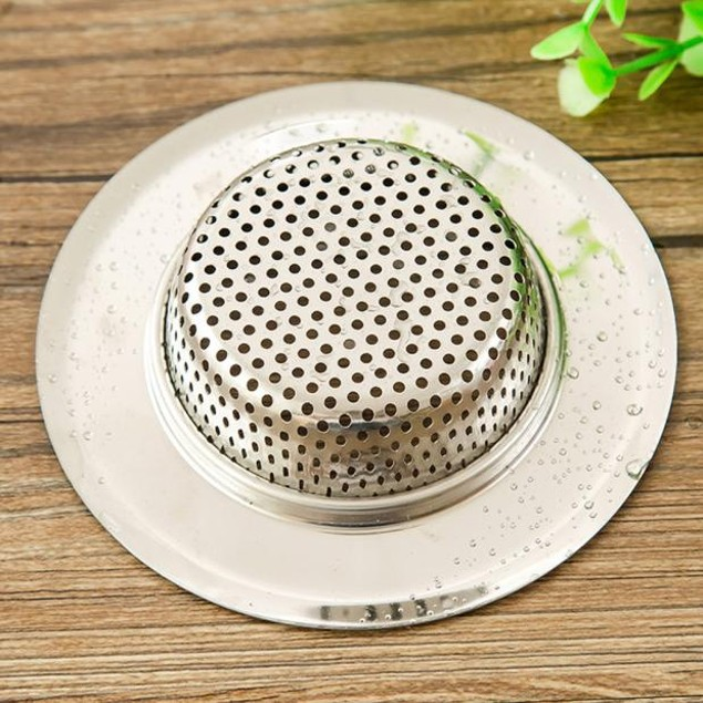 Kitchen Sink Strainers Stainless Steel Basket Drain Protector 9CM