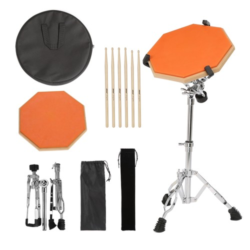 Drum Pad With 3 Pairs Of Drum Sticks And Adjustable Snare Drum Stand