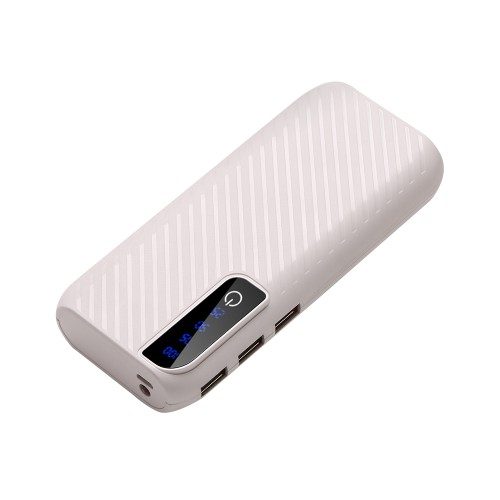 Power Bank With 3 USB Ports & Flashlight - 4 Colors