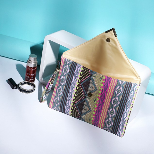 Ethnic Style Canvas Female Envelope Clutch