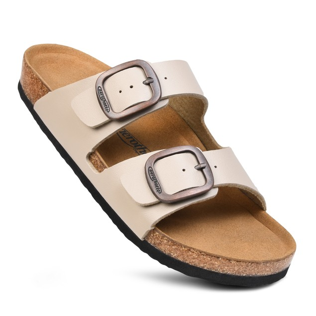 AEROTHOTIC Women's Arete Arch Support Cork Footbed Slide Sandals