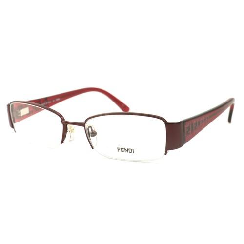 Fendi Women Eyeglasses F894 617 Bordeaux 51 17 130 Semi Rimless Rectangle