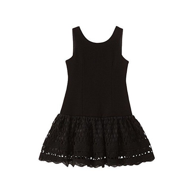Nanette Lepore Kids Girl's Ponte Novelty Lace Dress Sz L
