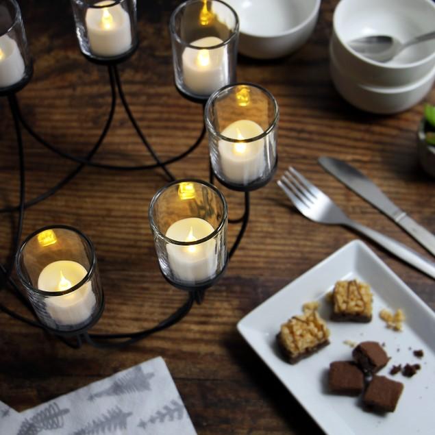 8 Tealight Candle Holder | MandW Black