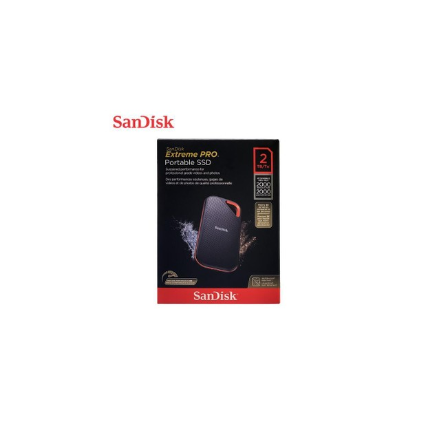 New SanDisk SSD SDSSDE81-2T00-G25 2TB Extreme PRO Portable External 2000MB/S