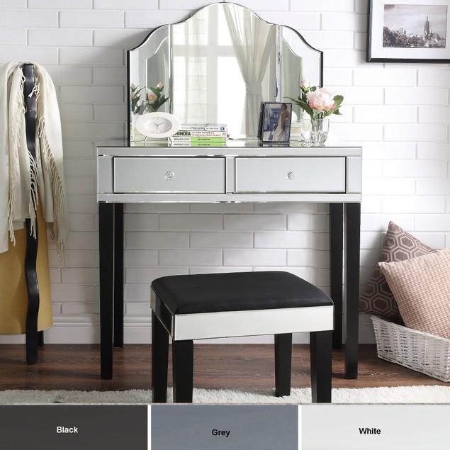 Julliet 3-Piece Vanity Set with Trifold Mirror