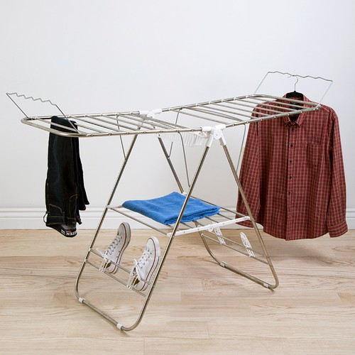 Laundry Drying Rack- Stainless Steel Clothing Shelf