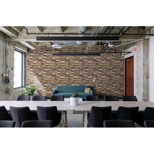 "Stone Wallpaper, 3D Effect Blocks Yellow Brick Peel and Stick Wallpaper, 17.7"" x 393"""